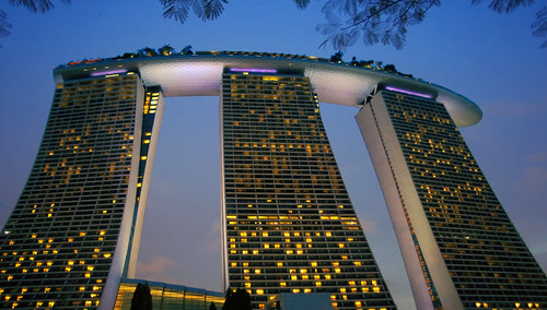 Singapore's three main towers of Marina Bay Sands