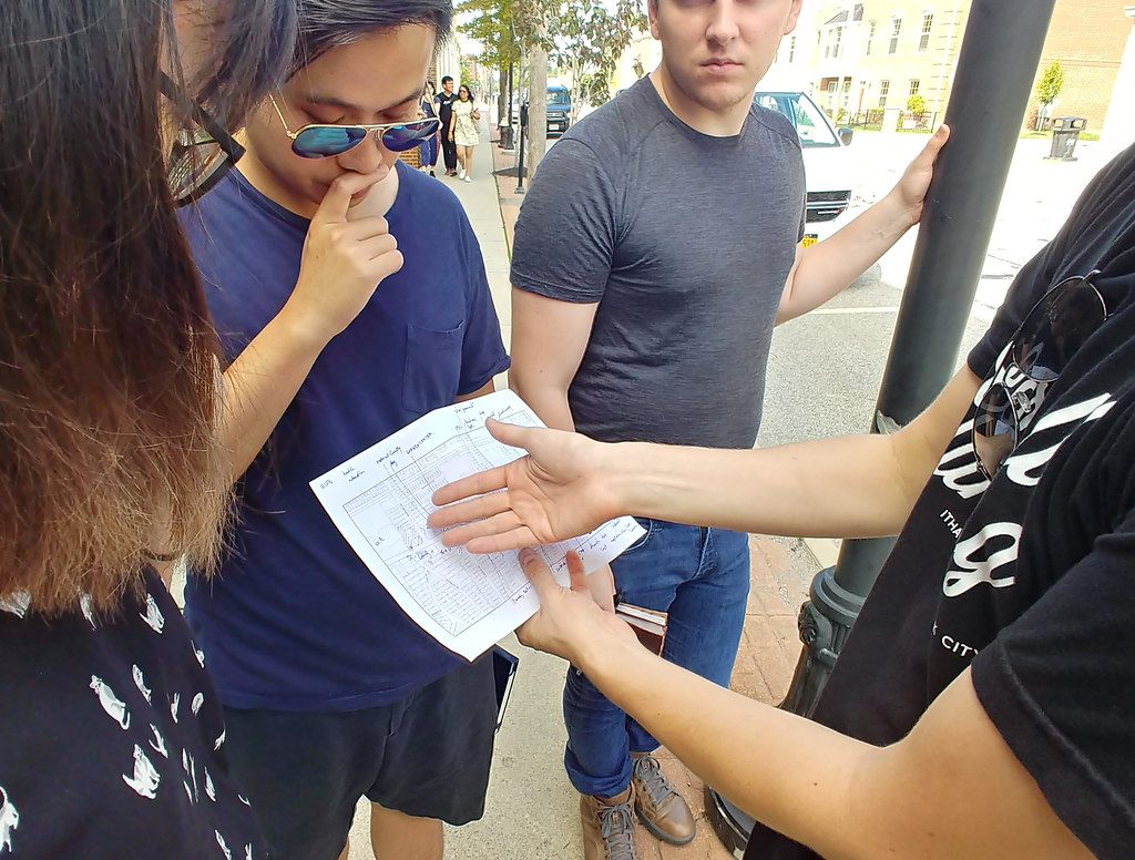 CRP students in the Land Use, Environmental Planning, and Urban Design Workshop took to the streets to learn more about the city's planning issues.  photo / Mitch Glass