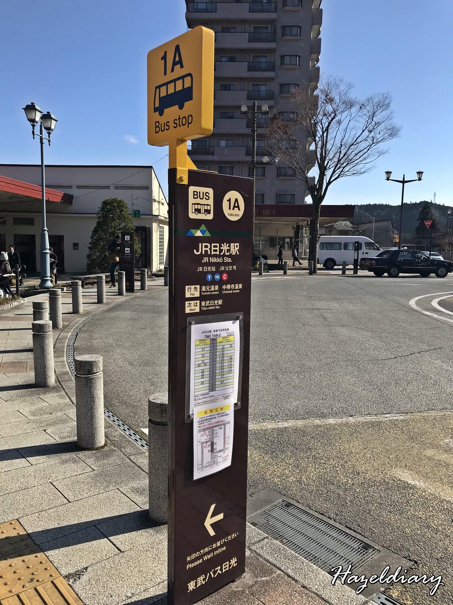 Nikko Station-Tokyo-Bus Stop