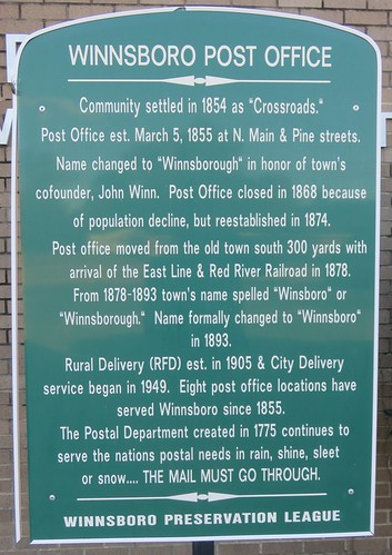 texas tx postoffices northtexas easttexas woodcounty winnsboro northamerica unitedstates us
