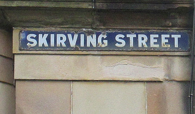 Third Skirving Street Sign, Glasgow