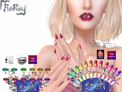 vendor nails and lips foglia oro
