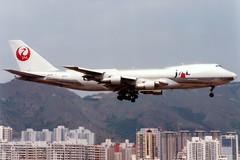 Japan Airlines   Boeing 747-200F   JA8180   Hong Kong Kai Tak