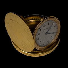 Tiffany pop-up watch with 1909 Saint-Gaudens double eagle
