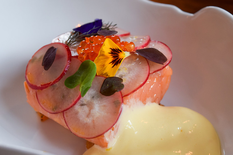 Confit Chalk Stream Trout with Calamansi Hollandaise at the Fordwich Arms, Canterbury