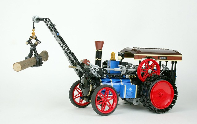 Big Steam Tractor as Crane