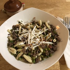 #GroundBeef #Peas #Pasta #Cavatelli #Homemade #Food #CucinaDelloZio -