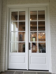 Doors, After. Color: Benjamin Moore's Dove Wing. Exterior Painters Mountain Brook AL PaintDoctorMD 205-422-0710