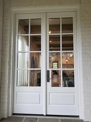 Doors, After. Color: Benjamin Moore's Dove Wing. Exterior Painters Mountain Brook AL PaintDoctorMD 205-422-0710
