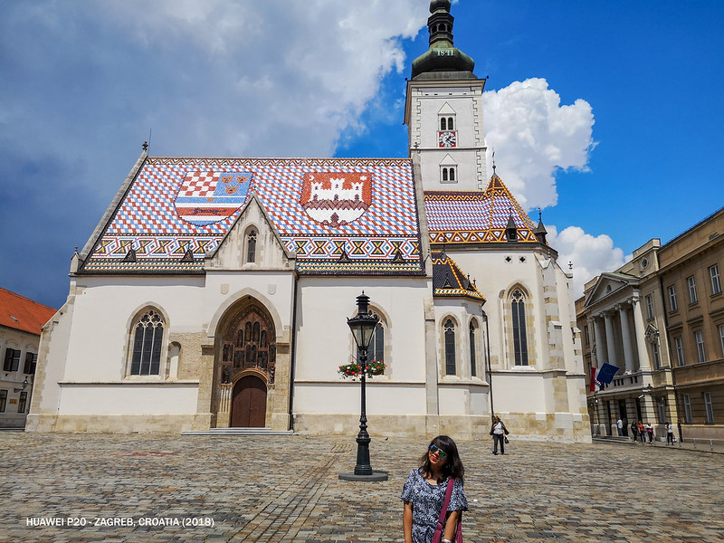 2018 Croatia Zagreb St. Mark's Church 2
