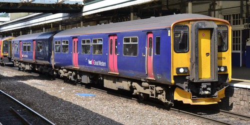 Class 150 'First Great Western' No. 150219. BREL York built DMU on Dennis Basford's railsroadsrunways.blogspot.co.uk'