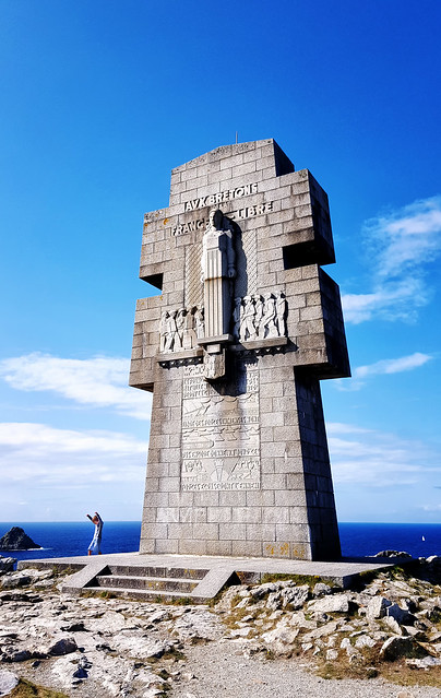 Monument to the Bretons of Free France at Pointe du Pen-Hir, Brittany, France