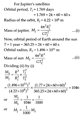 NCERT Solutions for Class 11 Physics Chapter 8 Gravitation 2