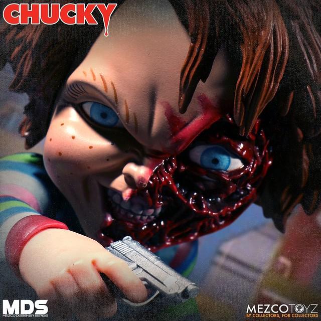 超恐怖鬼娃再度來襲!MEZCO M.D.S. 系列《靈異入侵》恰吉 豪華版 Deluxe Chucky 6吋可動人偶作品