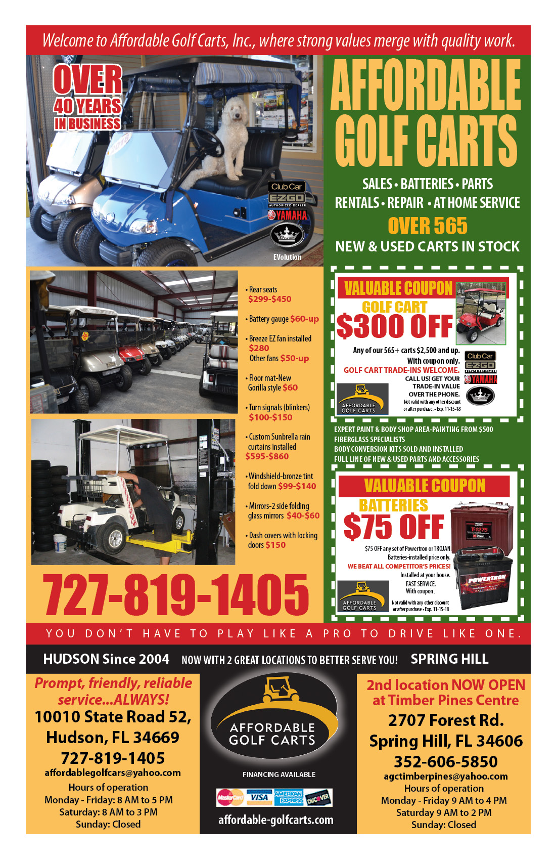 2018 October Boomerz-Magazine Page 28 Add from Affordable-Golf-Carts