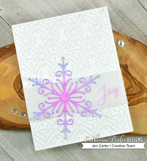 Jen Carter Delicate Snowflake Geometric Peaceful Flakes