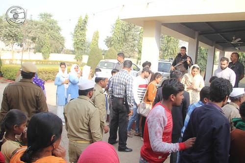 Devotees seeking blessings at Satsang Bhawan Bhiwari RJ