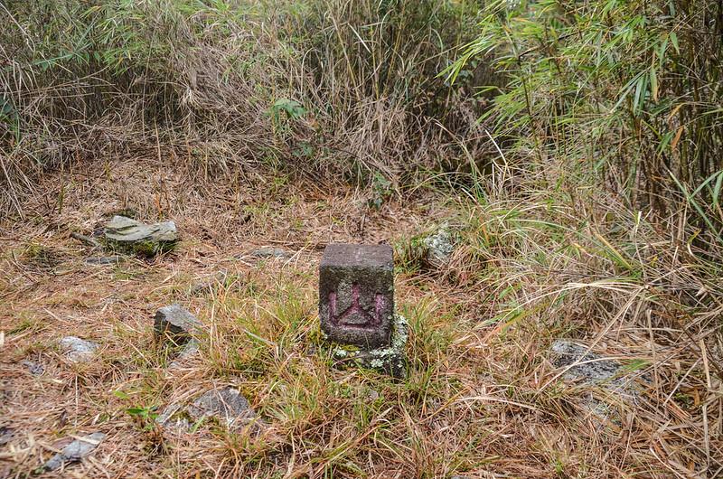 平石山西北峰冠字次山(01)的山字森林三角點(Elev. 2667 m) 1
