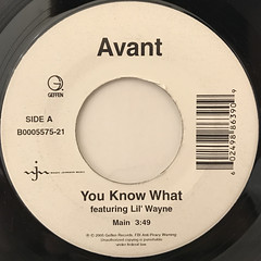AVANT:YOU KNOW WHAT(LABEL SIDE-A)