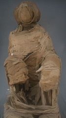 A monkey mummy at the Egyptian Museum of Cairo