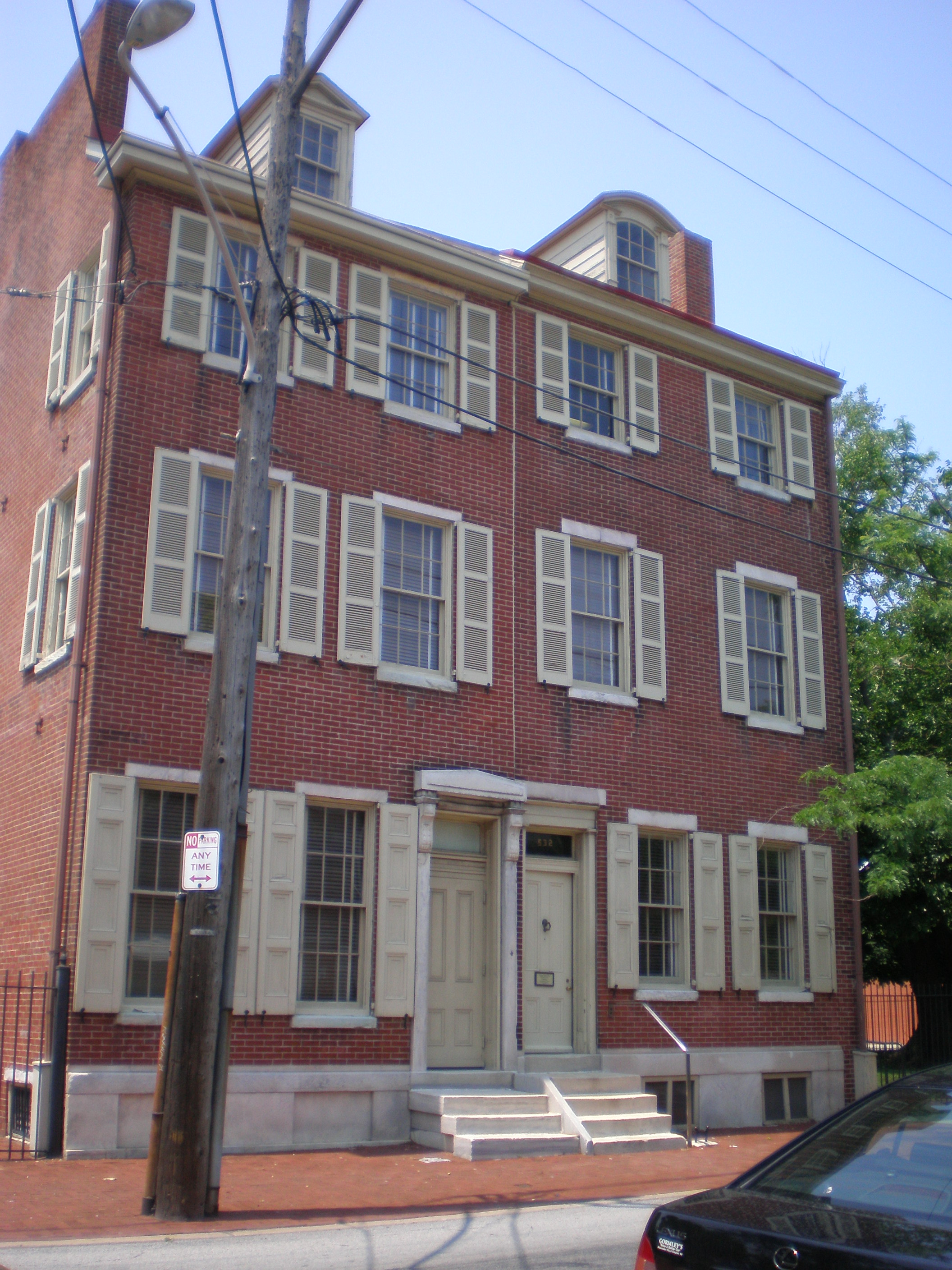 The Edgar Allan Poe National Historic Site in Philadelphia is one of several preserved former residences of Poe. Photo taken by <a href=