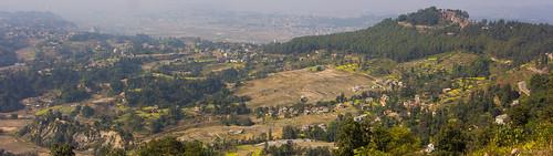 nepal mountain temple changu narayan village terrace