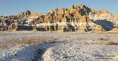 Badlands Winter Scene