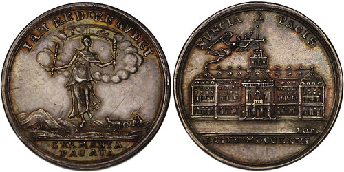 1763 Seven Years' War Silver Medal 2