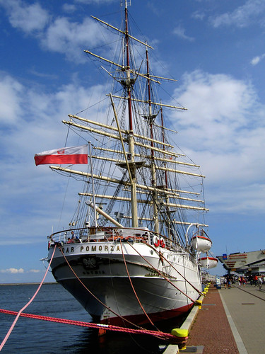 Legendary Polish Sailing Ship The Dar Pomorza in Gdynia