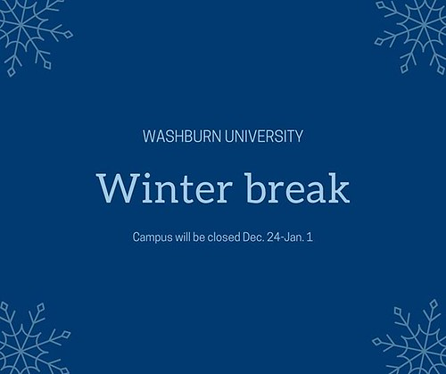 Campus will be closed Dec. 24 - Jan. 1.