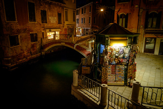 The stillness in Venice after sunset