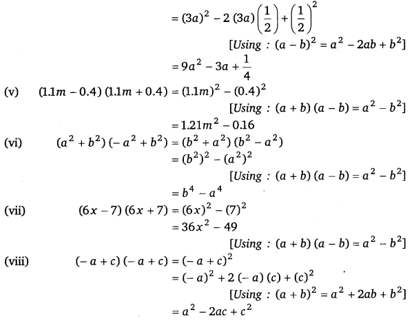 NCERT Solutions for Class 8 Maths Chapter 9 Algebraic Expressions and Identities 23