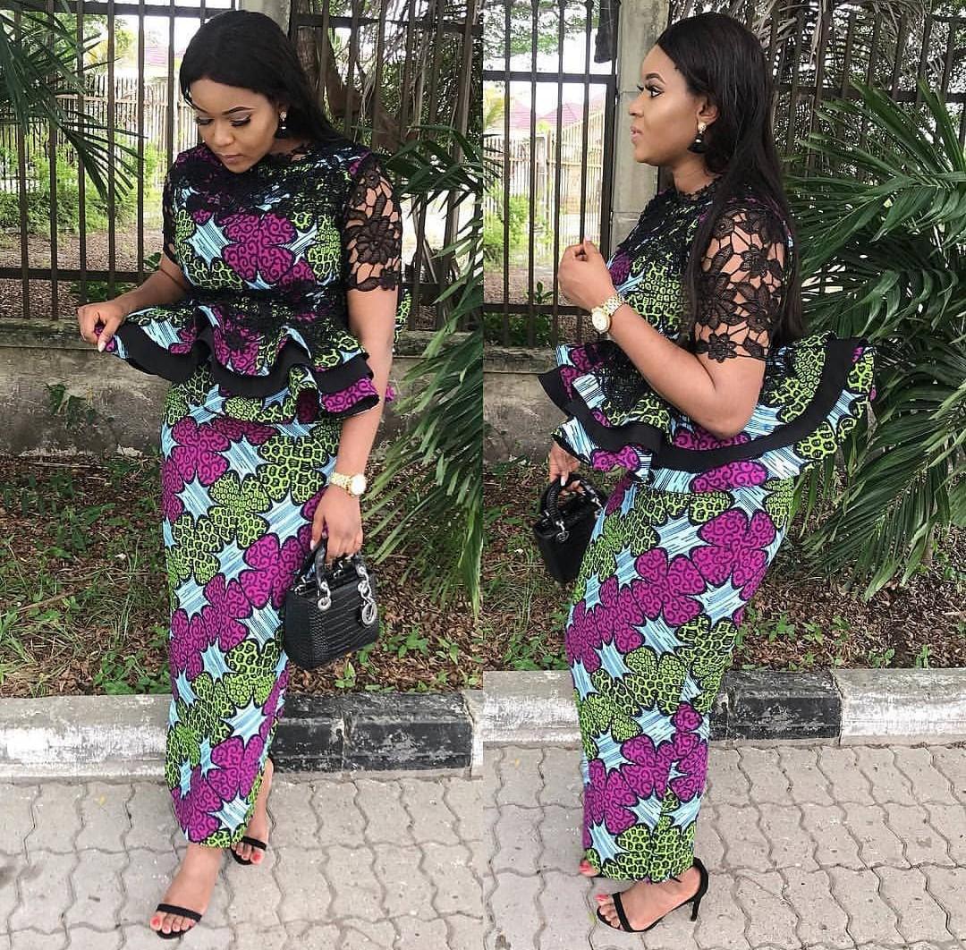 Latest Ankara Skirt And Blouse Styles For Wedding 2020 2