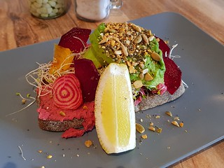 Beets and Avo at Suburban Cafe West End