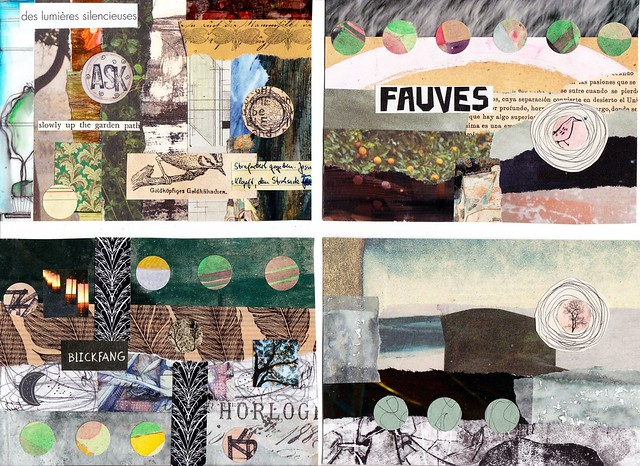 four winter collages