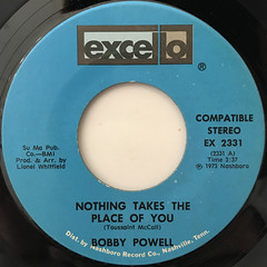 BOBBY POWELL:NOTHING TAKES THE PLACE OF YOU(LABEL SIDE-A)