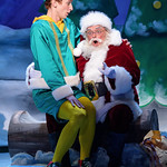 Elf - The Musical at the Arvada Center - Josh Houghton (Buddy) and Colin Alexander (Santa) Matt Gale Photography 2018