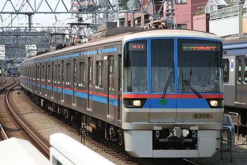 Toei 6300 series(2nd ver.) in Shin-Maruko.Sta, Kawasaki, Kanagawa, Japan /May 1, 2017