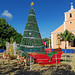 Santa's Sleigh, Reindeer, & Christmas Tree - Town Square, San Juan del Sur, Nicaragua