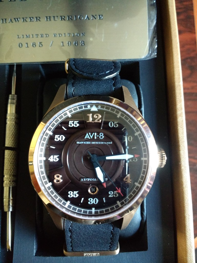 AVI 8 Hawker Hurricane Rose Gold Brown Dial