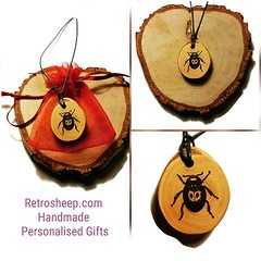 Just made #ladybug #ladybird #ladybug🐞 #necklace Retrosheep.com #Handmade #jewellery #personalised #giftideas #gifts #giftsforhim #giftsdforher #wooden #wood #woodenjewelry #woodenjewellery