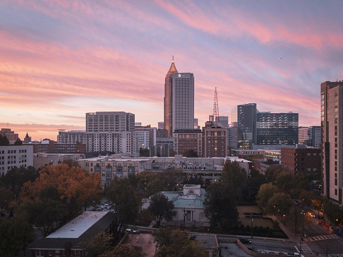 atlanta georgia sunrise skyline midtown
