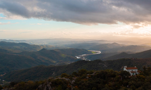 Dawn over andalusian coast