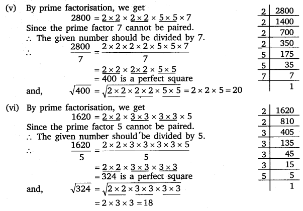 NCERT Solutions for Class 8 Maths Chapter 6 Squares and Square Roots 14