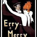 Fri, 2018-04-13 13:50 - Vintage German 'Erry & Merry' Dance Team Poster, 1912