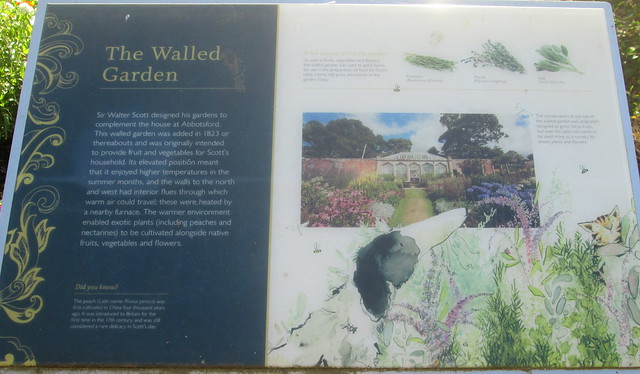 Abbotsford Walled Garden Information Board