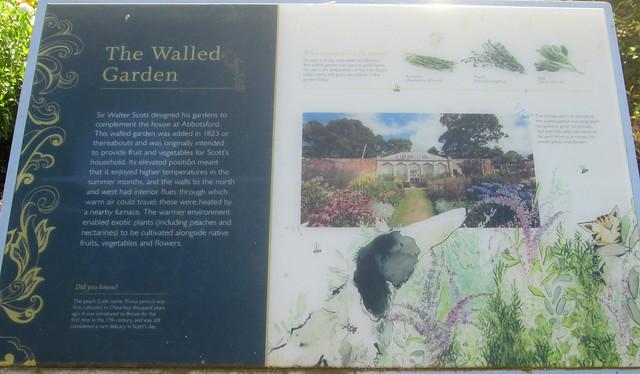 Abbotsford Walled Garden Information Board