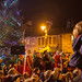 Hebden Bridge community and the Mayor at the Xmas lights switch on watching the fireworks Hebden Bridge Nove 18