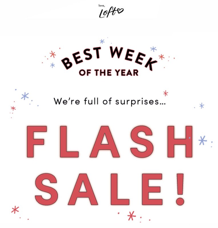 LOFT Flash Sale Alert
