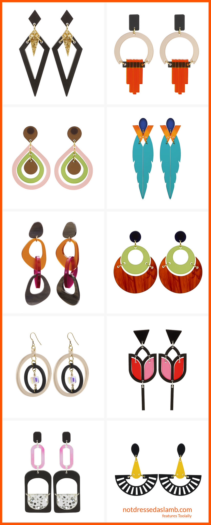 An Alternative Christmas Gift Guide: 9 Fantastic Indie Sellers - Toolally Earrings | Not Dressed As Lamb